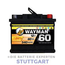 WAYMAN Autobatterie W60T 12V 60AH 540A Starterbatterie L 242mm B 175mm H 175mm