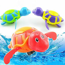 Wind-up Swimming Turtle Animal Toy Child Baby Kids Bath Time Clockwork Float New