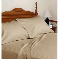 Branded Bedding Items 100% Cotton 800-TC Taupe Stripe All USA Size Available