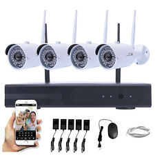 WIFI 1080P 2MP Wifi 4CH CCTV NVR Outdoor Wireless CCTV IP Camera Security System
