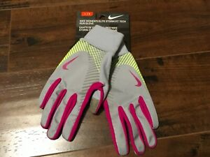 NEW NIKE ELITE STORM FIT TECH RUN RUNNING GLOVES TOUCH SCREEN Xs x-small