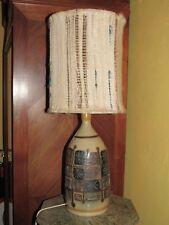 09E44 ANCIENNE LAMPE DE TABLE GRES KERALUC QUIMPER JEAN CLAUDE COURJAULT 1960