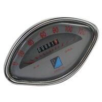 Vespa VBB GL GS Sprint Speedometer 0-120 Kmph Gray Face ECs