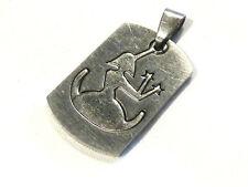 Bijou acier pendentif grand format signe du zodiaque vierge pendant