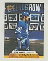 2020-21 Upper Deck UD CANVAS #C198 JOHN TAVARES Toronto Maple Leafs