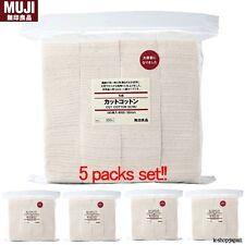 5 pack set MUJI Organic Daily Facial Cotton 180 sheets 60x50mm made in Japan F/S