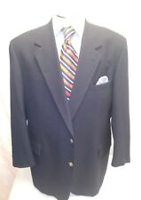Mens BOTANY 500 blue 2 button single vent sport coat sz 50L