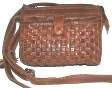 VILENCA  Brown Leather Clutch Purse Crossbody NWT