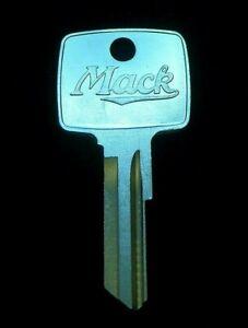 MACK TRUCK Script Logo & Bulldog KEY BLANK 1971-2011 Ign/Doors ALL xcpt Midliner