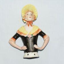really large Made in Germany Half Doll in Yellow Bonnet