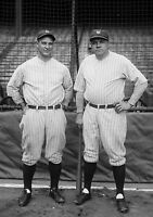 Art Print POSTER Lou Gehrig and Babe Ruth