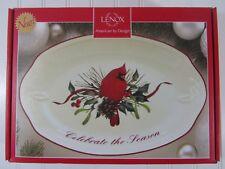 New Lenox Winter Greetings Celebrate the Season Red Cardinal Bowl Pinecones #843