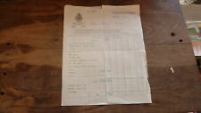 OLD 1950s HOTEL ROOM RECEIPT FROM THE CARLTON HOTEL STOCKHOLM SWEDEN