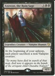 Black Vampire (Anowon): Custom Magic MTG Commander EDH Deck -100 Cards