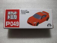 Toyota 86 Orange Pocket Tomica P049 Tomy Taito Nib