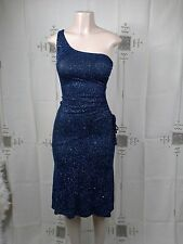 PROM DRESS WOMENS SIZE S MADE IN USA SPARKLING BEAUTIFUL BLUE