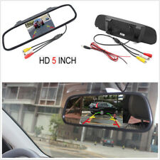 5Inch HD Car SUV Rear View Mirror Reversing Backup TFT LCD Monitor 2 Video Input