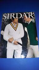 Sirdar Men's Sweater Knitting Pattern 5235