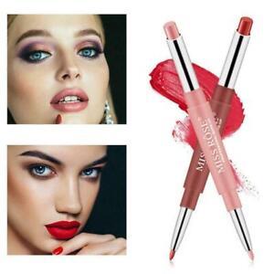 Double Head Matte Lipstick Lip Liner Pencil Pen Waterproof New Makeup Lips B1L5