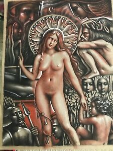 "Vtg. Josef M. Kozak Original Artwork ""SPECIAL"" Painting/Drawing Signed Unframed"