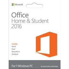 NEW GENUINE RETAIL MICROSOFT OFFICE HOME AND STUDENT 2016 1PC LIFETIME