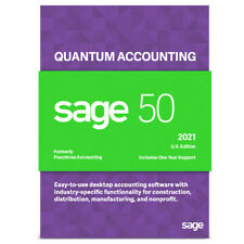 SAGE 50 2021 QUANTUM 4 USERS  DVD + DOWNLOAD - NOT A SUBSCRIPTION