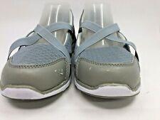 Propet Women's TravelLite Mary Jane Walking Shoes Size 6.5 Grey White