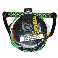 Riders Inc 5 Loop Waterski Slalom Ski Rope EVA Handle GREEN