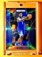 Zion Williamson RARE BLUE REFRACTOR ROOKIE PANINI PRIZM INSERT DRAFT PICKS RC 64