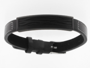 STORCH SCHMUCK Men's Bracelet Leather & Stainless Steel & Carbon Bangle Germany