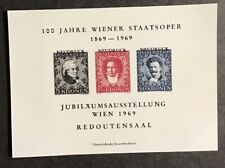 AUSTRIA, 100th. ANNIV. VIENNA OPERA HOUSE, SPECIMEN MINI SHEET, YEAR 1969, MNH