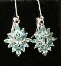 Item #421 Madagascar Paraiba Apatite (Mrq) Lever Back Earrings TGW 2.8 Cts.,