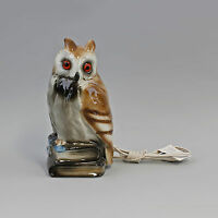 Porcelain Figure Air Cleaner Owl on Books Stack WAGNER&APEL H22CM 9942737