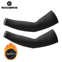 ROCKBROS Sports Arm Warmers Breathable Soft Elasticity Windproof Fleece Sleeves