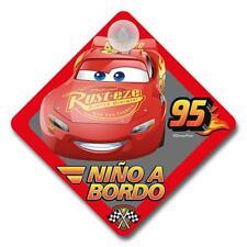 Cars Disney111 - Cartel niño a bordo Cars Disney para coche