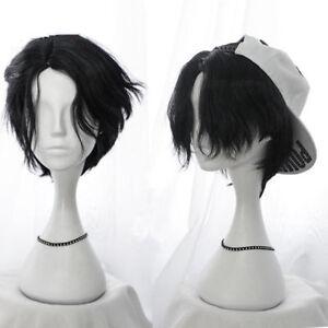 Black Gradient BL Men Wig Daily Harajuku Cos Kawaii Gothic Hair Short Hairpiece