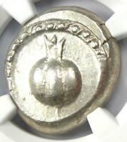 Pamphylia Side AR Stater Pomegranate Athena Coin 400 BC. Certified NGC Choice XF