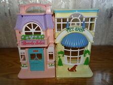 FISHER PRICE SWEET STREETS / PET SHOP & BEAUTY SALON DOLL HOUSE 2001