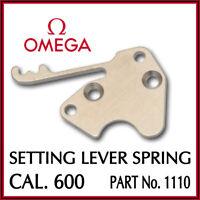Ω Ω Setting Lever Spring, Swiss Made, Part No. 1110 For OMEGA Cal. 600 Ω Ω