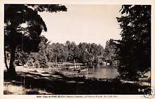 RUTTER ONTARIO~PINE BEACH~NORTH CHANNEL~ FRENCH RIVER~REAL PHOTO POSTCARD 1957