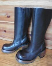 NEW Steve Madden Brown Leather Womens Boots Ray Brazil size 7 mid-calf high heel