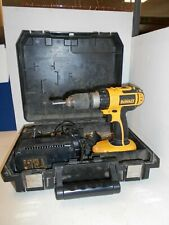 DeWalt DC725 18V Cordless Combi Drill 3 Batteries Charger Hard Case Z9