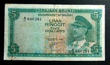 $5 Brunei 1967 note (Prefix A1) # 98