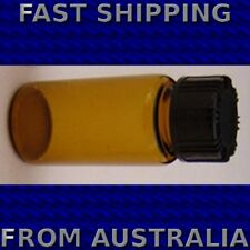 Amber Brown Glass Vial With Plastic Cap 5mL - Packet of 10
