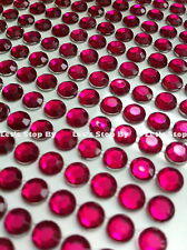 560pc 3mm HOT PINK Rhinestone Diamond Crystal Bling Sticker Auto Cars Iphone
