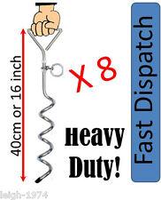CARAVAN awning STORM esegue il pegging Ground Sheet Anchor PICCHETTI X 8 per l'uso con cinturini