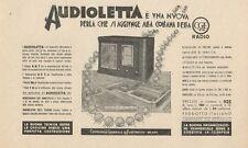 Z1028 AUDIOLETTA la nuova radio CGE - Pubblicità d'epoca - 1934 Old advertising