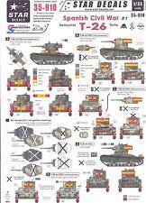 Star Decals 1/35 SPANISH CIVIL WAR NATIONALIST TANKS T-26 Tank