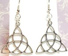 CELTIC KNOT_Large Charm Earrings_Triquetra Irish Trinity St. Patrick's Silver