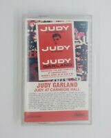 Judy At Carnegie by Judy Garland Hall Audio Cassette (1961 Capitol Records BMG)